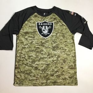 new styles 881c2 190e0 Nike Oakland Raiders Sz L Salute To Service Shirt